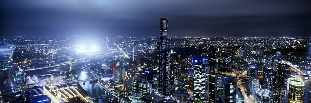 Melbourne's City Lights by Lachlan Doig