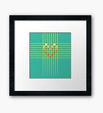 Cross My Heart / Gamer Heart Framed Print