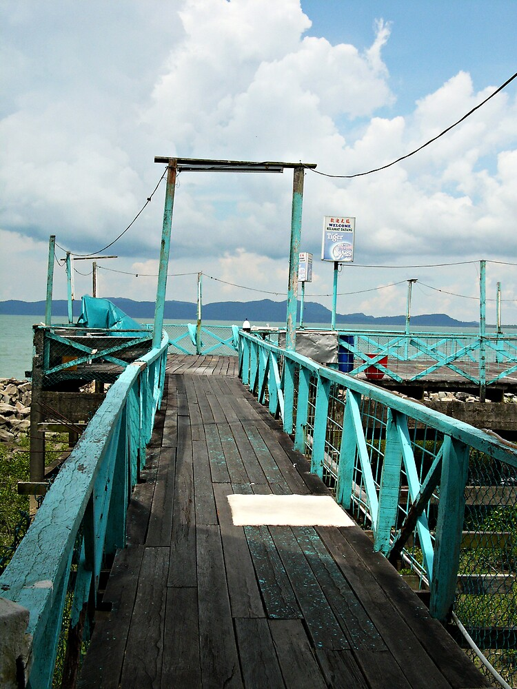 Fishing Village Jetty by daveloh