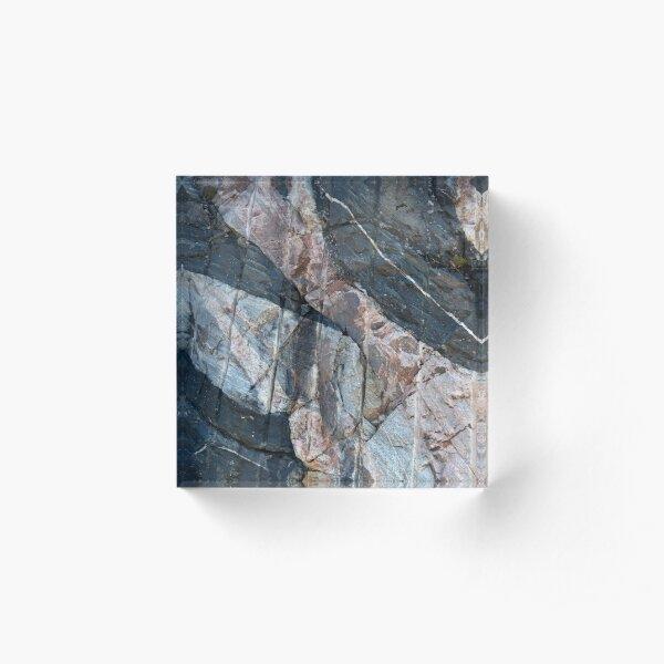 Geology makes art Acrylic Block