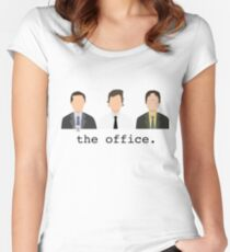 Jim, Dwight, Michael- The Office Women's Fitted Scoop T-Shirt