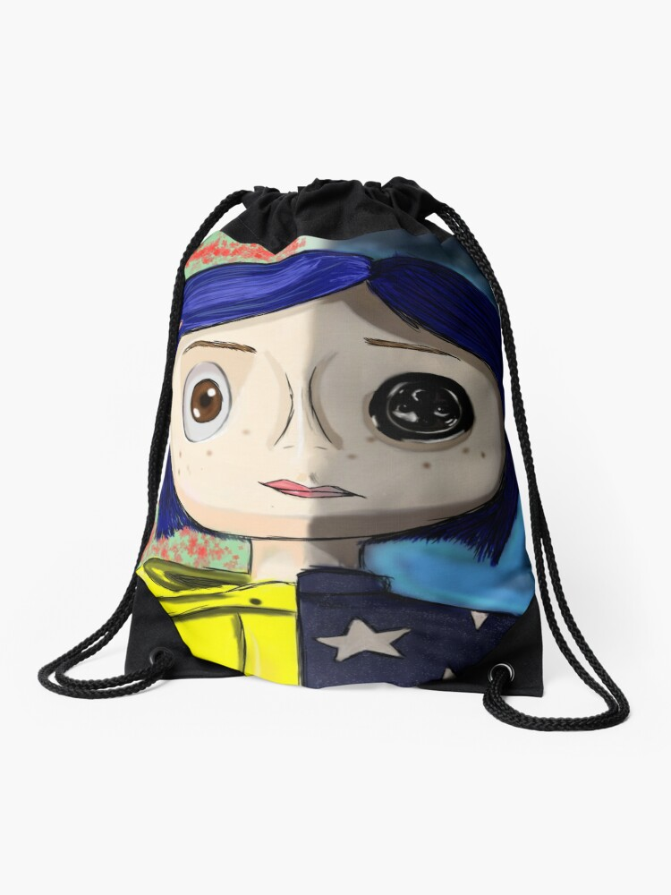 Coraline Collection Drawstring Bag By Wonder With Wes Redbubble