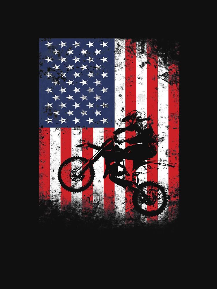 American Flag Motocross Dirtbike by Flo991990
