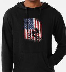 American Flag Motocross Dirtbike Lightweight Hoodie