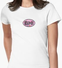 Bald Head Island. Women's Fitted T-Shirt