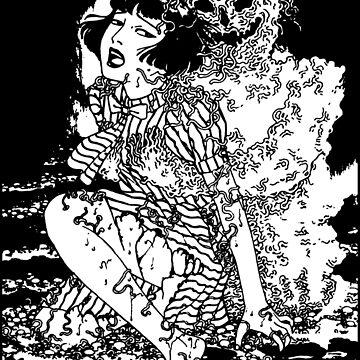 Suehiro Maruo Worm Ghost by dalecoopersama