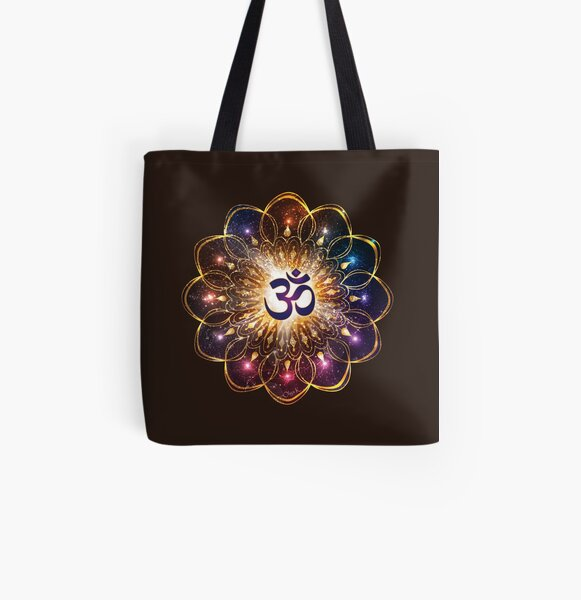 """""""The higher power of Om"""" - sacred geometry All Over Print Tote Bag"""
