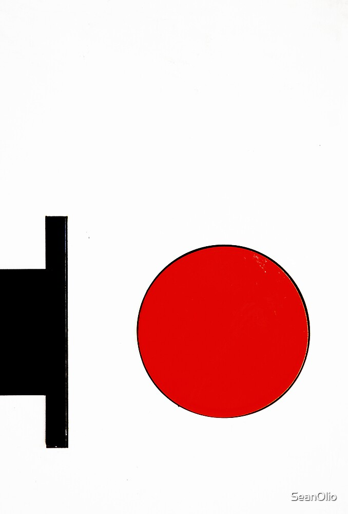 Composition with Red Circle by SeanOlio