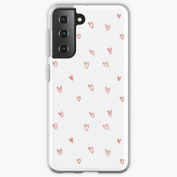 Cute Heart Doodle Pattern Samsung Galaxy Soft Case