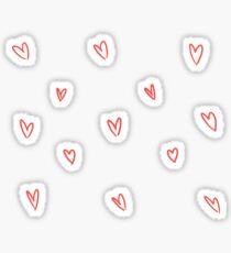 Cute Heart Doodle Pattern Sticker