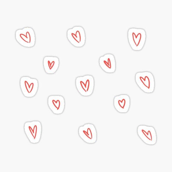 Niedliches Herz kritzeln Muster Sticker