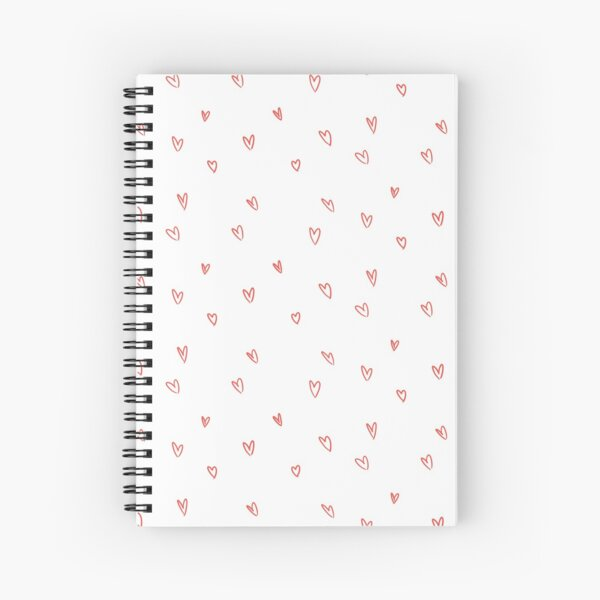 Cute Heart Doodle Pattern Spiral Notebook