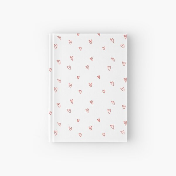 Cute Heart Doodle Pattern Hardcover Journal