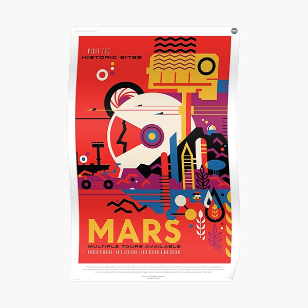 A Mars Mission (NASA/JPL) Poster