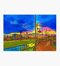 Embankment in rainbow colors. Photographic Print