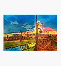 Weyburn in rainbow colors. Photographic Print