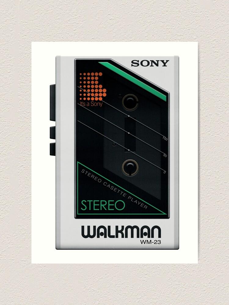 Sony Walkman Art Print By Kuroderuta Redbubble