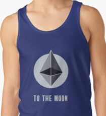 ethereum symbol to the moon sign nerd bitcoin blockchain cryptochain currency internet award winning decentralize it cpu board computer path universe Tank Top