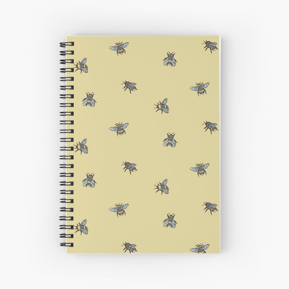 Bee Pattern Spiral Notebook