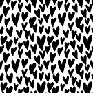 Hearts black and white minimal pattern love valentines day gifts by charlottewinter