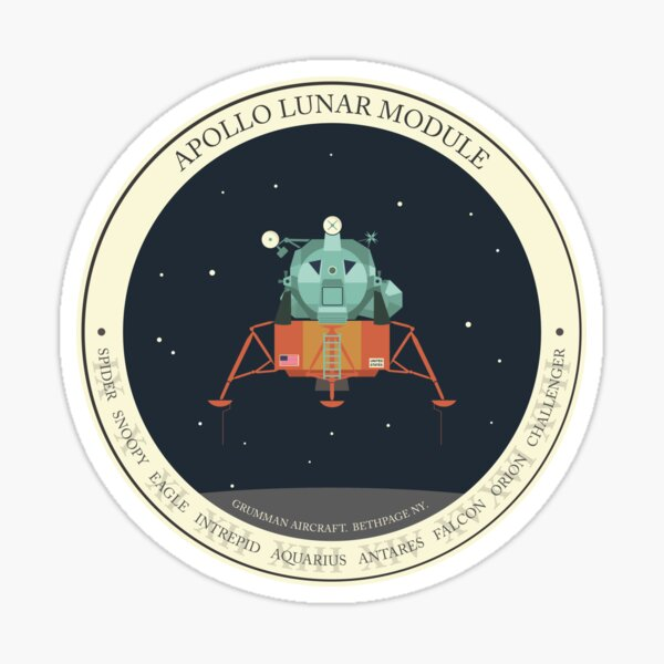 APOLLO LUNAR MODULE Sticker