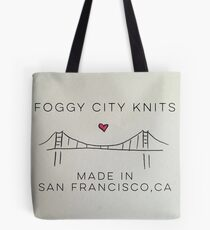 Foggy City Knits Yarn Tote  Tote Bag