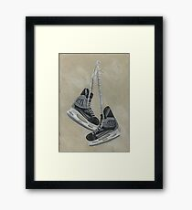 Life is better on the ice Framed Print