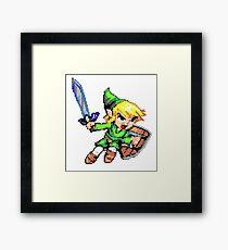 Link pixelart Framed Print
