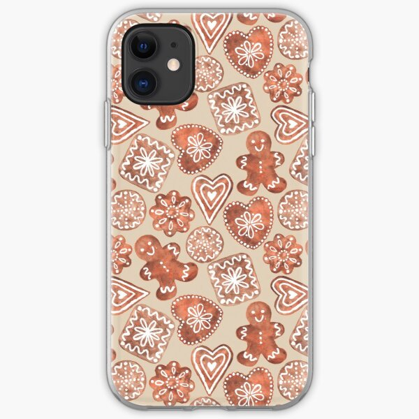 Gingerbread Cookies -Holiday Pattern iPhone Soft Case