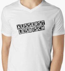extremely lesbian Men's V-Neck T-Shirt