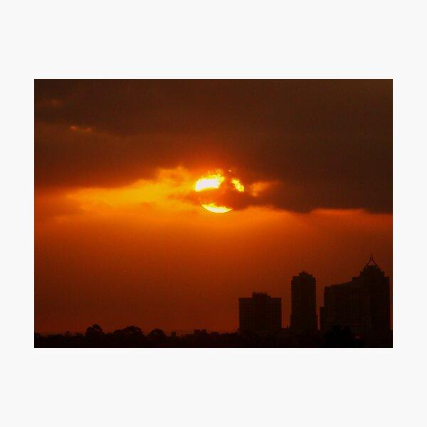 Sunset over Sydney Photographic Print
