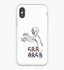 grr...argh with colour iPhone Case