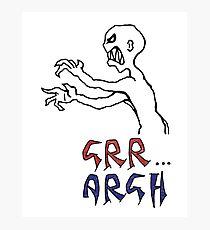 grr...argh with colour Photographic Print