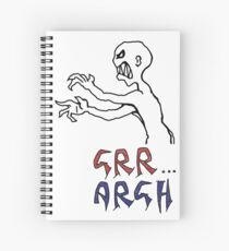 grr...argh with colour Spiral Notebook