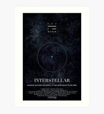 Interstellar - Wurmloch-Plakat Kunstdruck