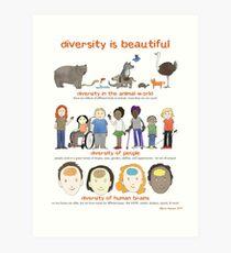 Lámina artística la diversidad es hermosa