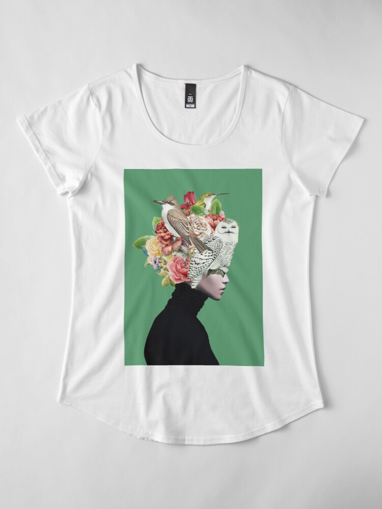 Alternate view of Lady with Birds(portrait) 2  Premium Scoop T-Shirt