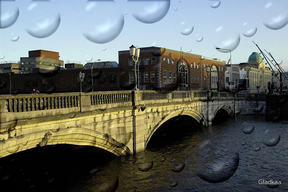 Irish city, Cork, Ireland by Gladkaa