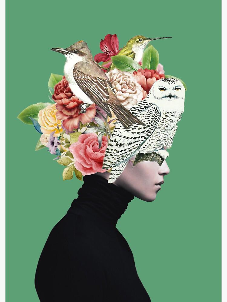 Lady with Birds(portrait) 2  by Dada22