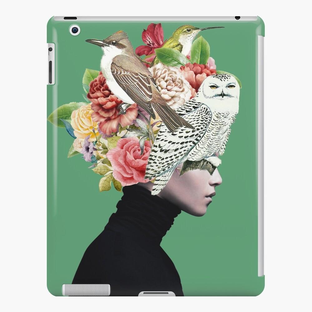 Lady with Birds(portrait) 2  iPad Case & Skin