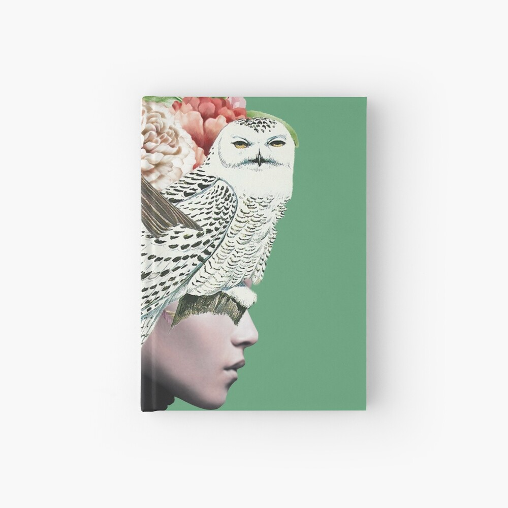 Lady with Birds(portrait) 2  Hardcover Journal