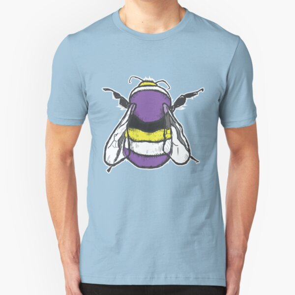 Non-binary bee Slim Fit T-Shirt