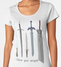 Choose your sword Women's Premium T-Shirt