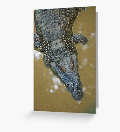 Thai Croc Greeting Card