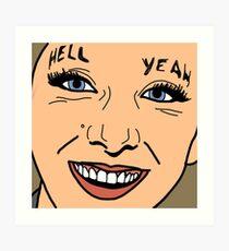 "Jenna Murmeln ""Helllll Yeah"" Kunstdruck"