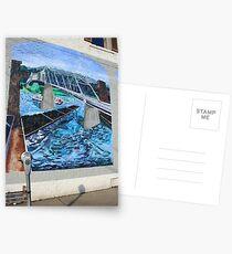 sidewalk art Postcards