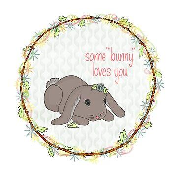 Lovable and Sweet Baby Bunny by HoneybethStudio