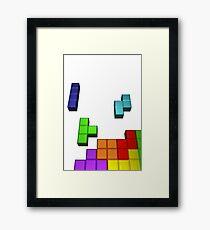 Tetris Cover Recreated Framed Print