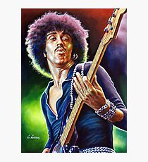 Lynott Thin Lizzy portrait painting Photographic Print