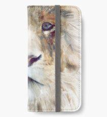 Löwe // Majestät iPhone Flip-Case/Hülle/Skin